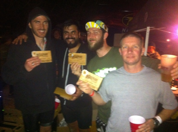 Dirty Dozen 12 hr, 4 man open, 3rd place finishers!