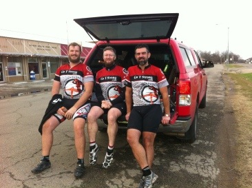 Finishers from left to right: Jonathan Braddick, Michael Shannon, Shane Waldon