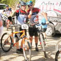 James and Phil racing the 60+ category